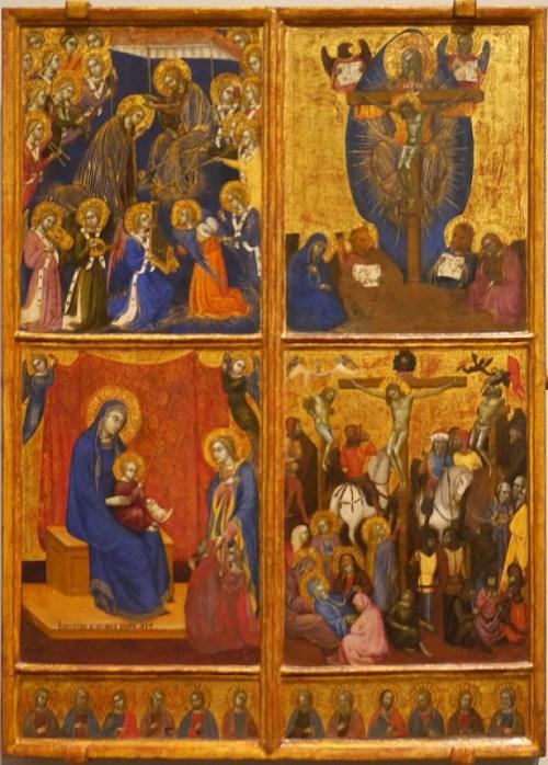 1374 Barnaba da Modena Scene della Vergine; La Trinità; la Crocifissione. National Gallery