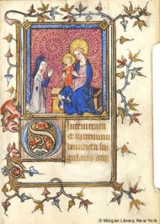 1375-1400 Book of Hours France, Paris, Morgan MS M.229 fol. 195r
