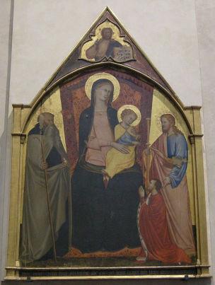 1375-98 Giovanni_di_bartolomeo_cristiani,_madonna_in_trono,_santi_e_un_donatore Chiesa di Sant'Ambrogio a Firenze