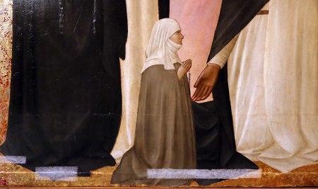 1375 Agnolo_gaddi,_madonna_in_trono_e_santi,_,_da_s.m._novella_qa_firenze Galleria nazionale (Parma) detail