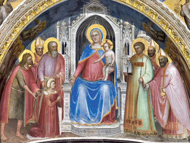 1375 Giusto di Menabuoi donatrice Fina Buzzaccarini. Baptistere de Padoue