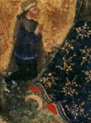 1375 ca Atelier Lorenzo Veneziano H. Blasius H. Helena Bonnefantenmuseum, Maastricht detail