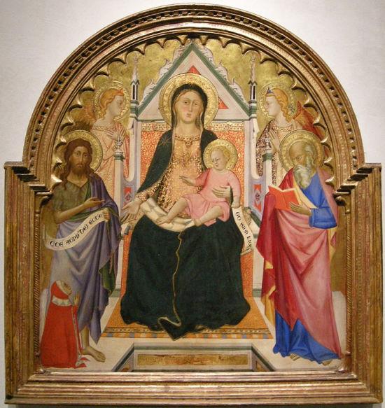1375_ca Silvestro_de'_gherarducci_(attr.)_giovanni_battista_e_giovanni_evangelista,_.Los Angeles County Museum of Art.