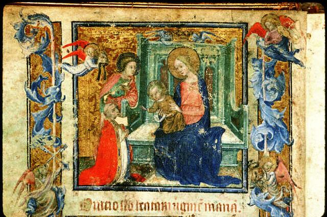 1378 apres Clement_VII_en_oraison Archives iconographiques du palais du Roure d'Avignon