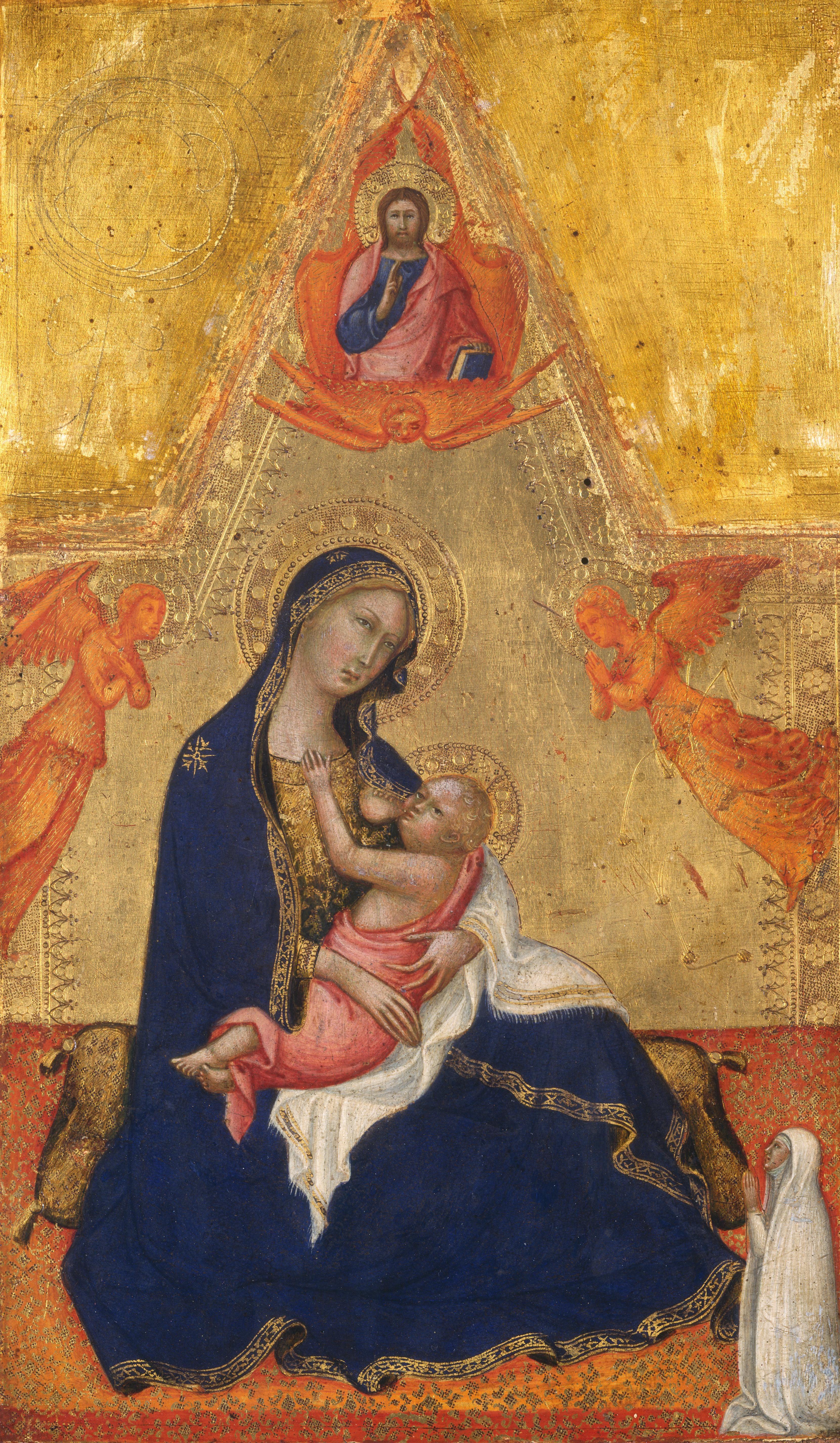 1380-90 Andrea di Bartolo - Madonna dell'Umilta (davanti) National Gallery of Art, Washington revers crucifixon don inconnu