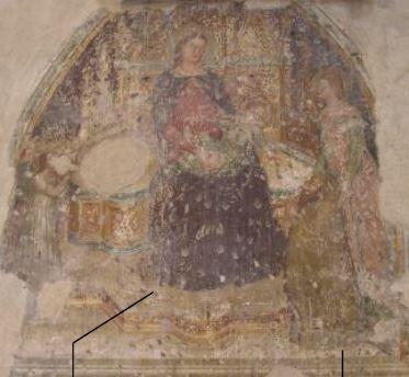 1380-99 Fresques des chevaliers allemands Donateur laïc, San Giorgetto, Verona