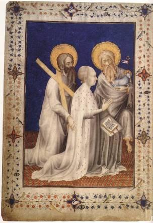 1380 ca Jacquemart de Hesdin Tres_Belles_Heures_of_the_Duc_the_Berry Bibliothèque Royale de Belgique, Brussels MS11060 fol 10v