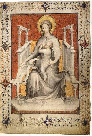 1380 ca Jacquemart de Hesdin Tres_Belles_Heures_of_the_Duc_the_Berry Bibliothèque Royale de Belgique, Brussels MS11060 fol 11