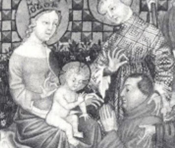 1380 ca Lombardie'usage de Rome BNF Giangaleazzo Visconti,(manoscritto Smith-Lesoüeff 22, c. 15) detail.