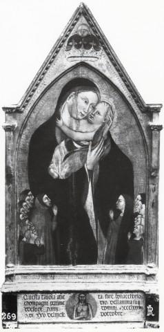 1387 Giovanni del Biondo, Madonna con Bambino e devoti della famiglia Compagni chiesa di San Felice a Ema Florence