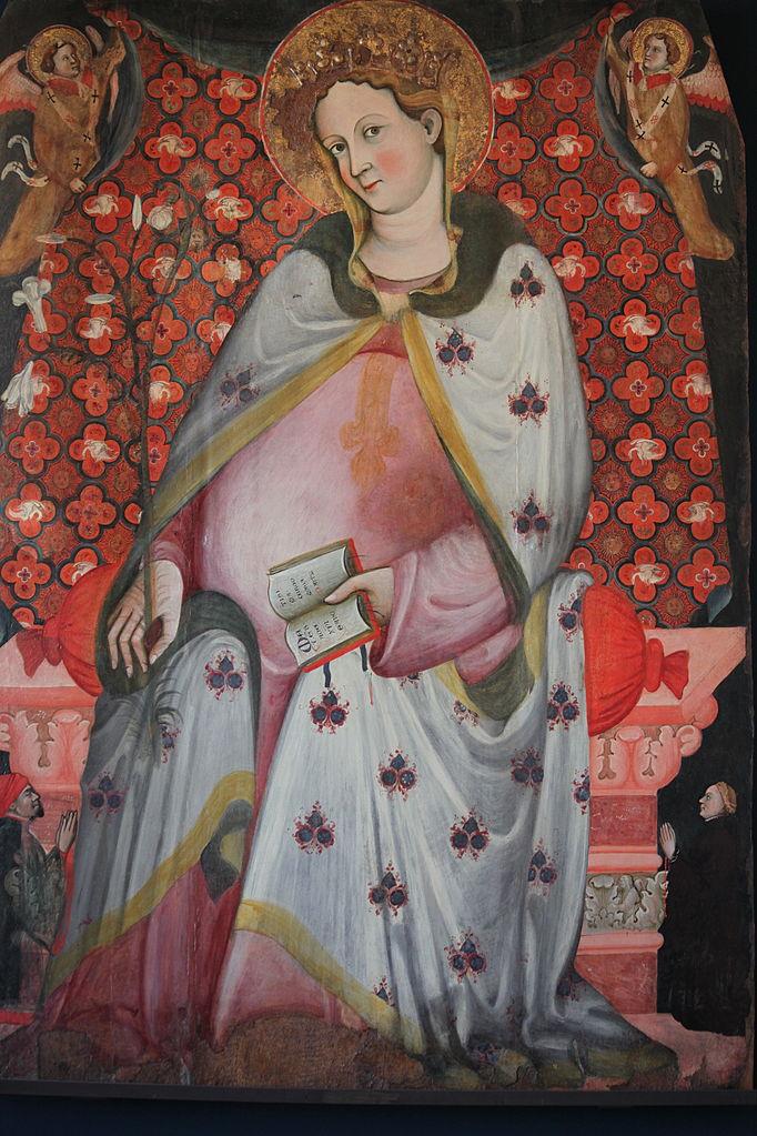 1390-1410 Madonna del parto e due devoti, Maestro della Madonna del Parto Accademia Venise