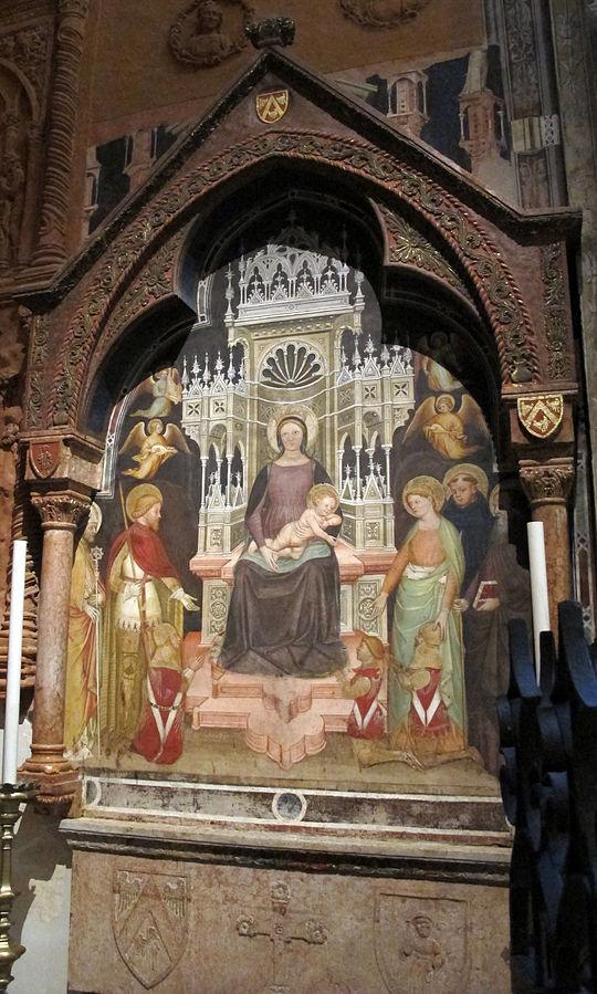 1390-99 Martino da Verona, San Zeno, Giorgio, Caterina, Domenico, Antonio Abate,Chiesa di S. Anastasia, Verona bevilacqua