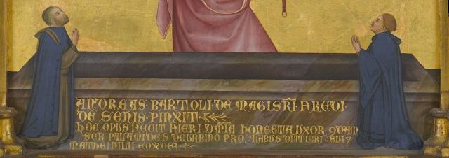 1390 Andrea Di Bartolo - Assunzione della Vergine con San Tommaso e due donatori - - Virginia Museum of Fine Arts, Richmond detail