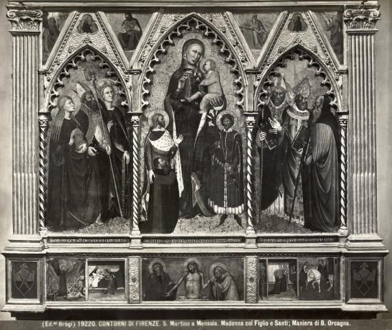 1391 Maestro di Ponte a Mensola Vierge avec Sta julien st Amerigo et donateur Amerigo Zati, eglise de S. Martino a Mensola, Firenze