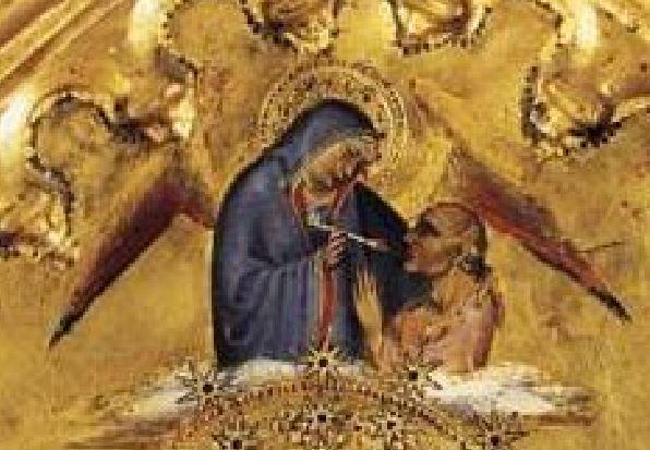 1391 ca Giovanni Del Biondo, la Vierge de l'Apocalypse avec Saints et Anges Pinacoteca vaticana Isaie