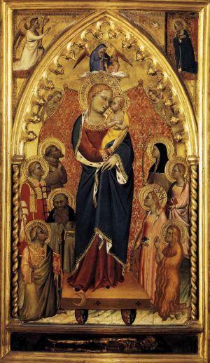 1391 ca Giovanni Del Biondo, la Vierge de l'Apocalypse avec Saints et Anges Pinacoteca vaticana