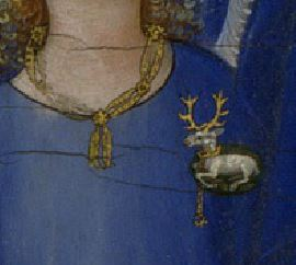 1395–99 Wilton_diptych;_right-hand_panel detail