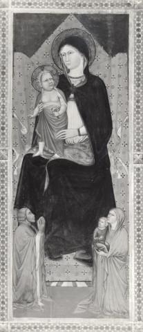 1400-10 Giovanni di Pietro da Napoli, Madonna con Bambino in trono e donatori Pinacoteca Nazionale, Siena