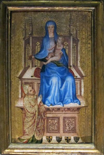 1400-1415 La vierge aux eglantines Boheme Louvre.