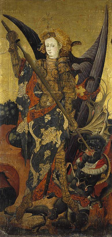 1400-99 Gonzalo Perez Saint_Michael_Vanquishing_the_DevilNational Gallery of Scotland