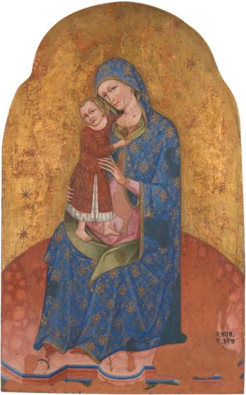 1400 ca Anonyme venitien ou dalmate, Retable de la Vierge National Gallery, Londres, NG 4250 Vierge