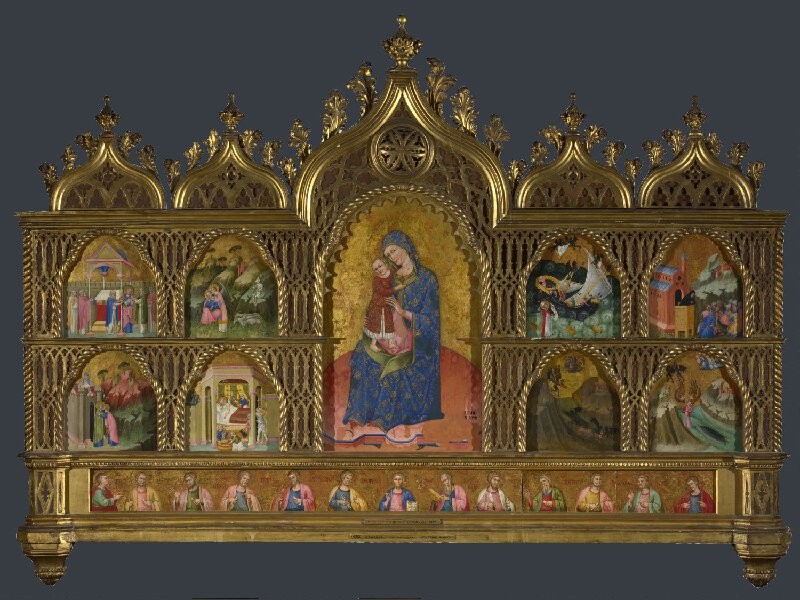 1400 ca Anonyme venitien ou dalmate, Retable de la Vierge National Gallery, Londres, NG 4250