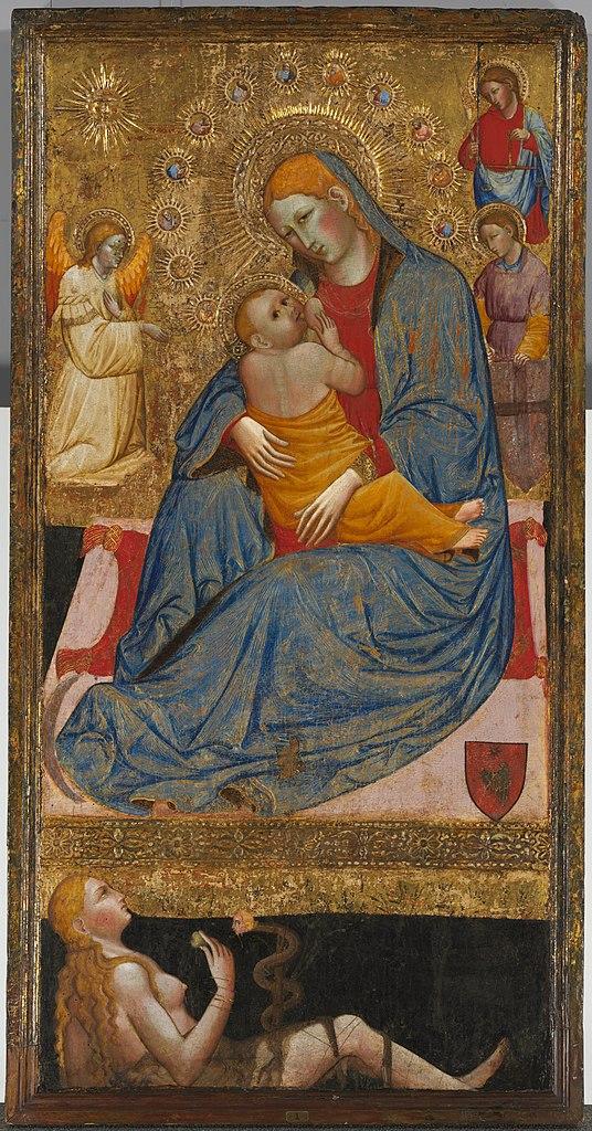 1400 ca Olivuccio_di_Ciccarello_da_Camerino_-_The_Madonna_of_Humility_with_the_Temptation_of_Eve Cleveland Museum of Arts