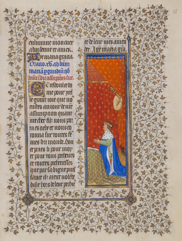 1406-09 Freres Limbourg Belles heures de Jean du Berry MET 54.1.1 fol 91