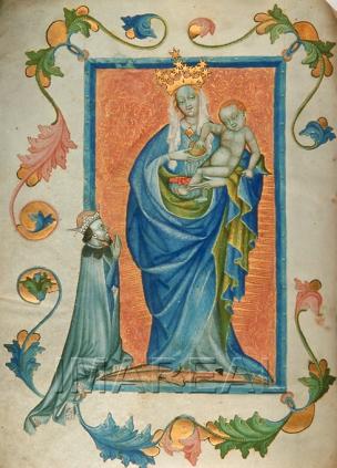 1410-20 Duc Ernst d'Autriche, Aurhaym Heinrich Predication de St Augustin Osterreichische Nationalbibliothek cod. s. n. 89 fol. 1v