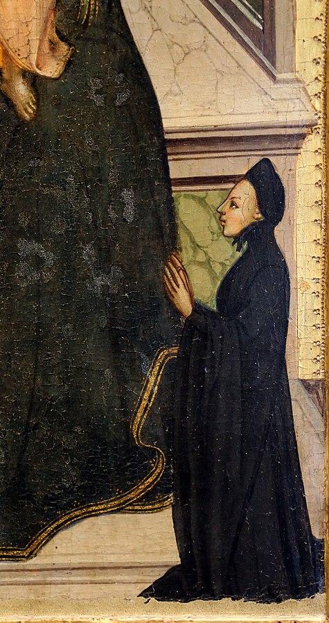 1410-20 Lippo_d'andrea_madonna_col_bambino,_donatori_e_santi Museo San Pietro (Colle di Val d'Elsa) droit