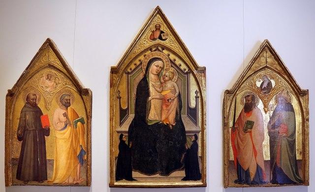 1410-20 Lippo_d'andrea_madonna_col_bambino,_donatori_e_santi Museo San Pietro (Colle di Val d'Elsa)