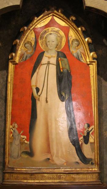 1410-20_ca Rossello_di_jacopo_franchi,_madonna_del_parto,_angeli_e_donatori Museo della Casa fiorentina Antica - Palazzo Davanzati