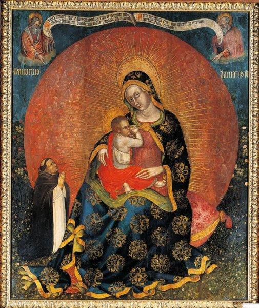1410-24 Ranuccio d Arvari Madonna con Bambino e donatore, Profeti Santuario della Madonna della Salute, Porto di Legnago