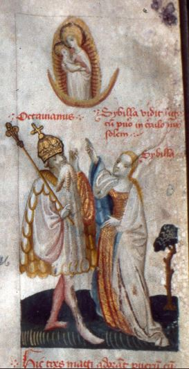 1410-25 Master of the Brno Speculum (Pays Bas), Nova Rise, Kanonie sv. Petra a Pavla, MS 80, fol. 8r