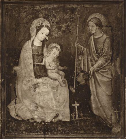 1410-40 Anonimo veronese sec. XV, San Giacomo Maggiore presenta il donatore alla Madonna con Bambino Chiesa di S. Anastasia, Verona