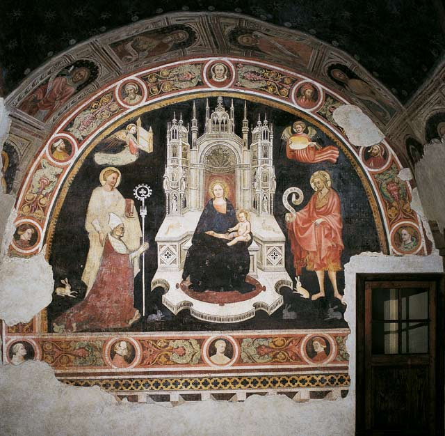 1410 ca Anonyme deux saints jean Vescovo Giovanni Rusconi Duomo Parme