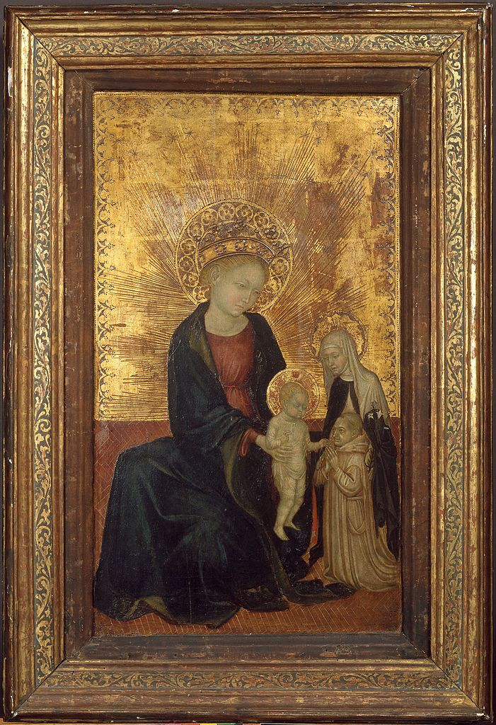 1411 -24 Madonna_and_Child_with_Saint_Catherine_of_Siena_and_a_Carthusian_Monk MET
