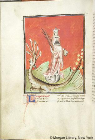 1415 ca Morgan MS M.133 fol. 36v Femme et Dragon