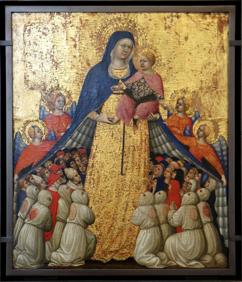 1418-22 Pietro di Domenico di Montepulciano Vierge de misericorde Musee du Petit palais Avignon