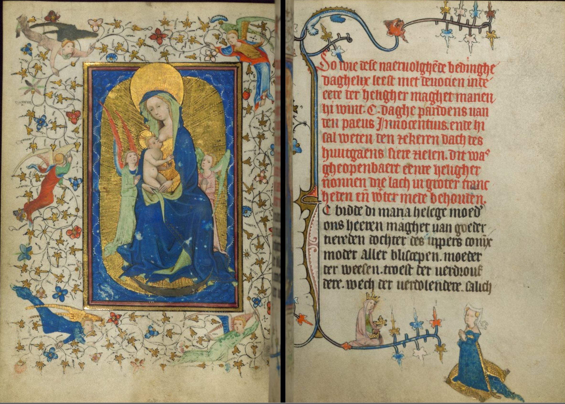 1420‒30 Book of Hours of Daniel Rym Walters Elizabeth van Munte Ms. W.166 fol 60r 61v