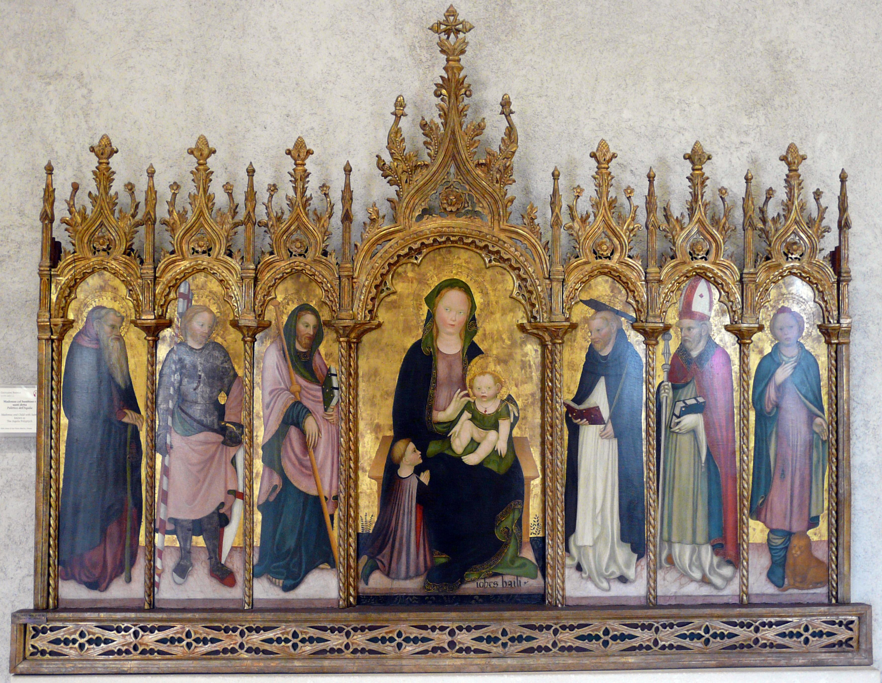 1420-30 Giovanni Badile polittico dell'Aquila Museo di Castelvecchio VERONA bis,