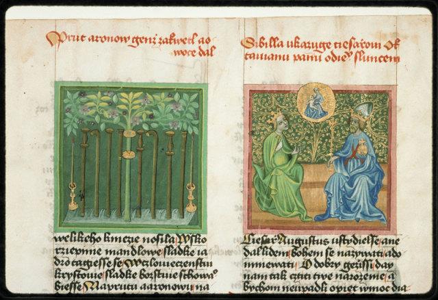 1420 Speculum humanae salvationis Praha, Knihovna Narodniho muzea, III.B.10 fol 010v