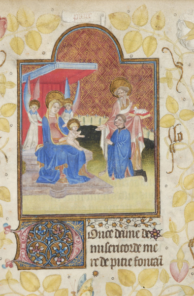 1420 ca Book of Hours France, ca. Morgan MS M.960 fol. 117r