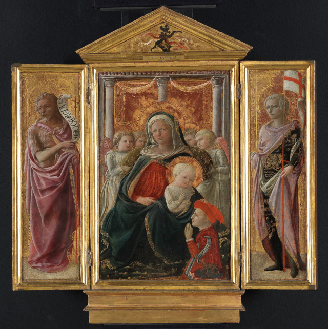 Virgin and Child, St John the Baptist, St George or St Ansanus, by Filippo Lippi