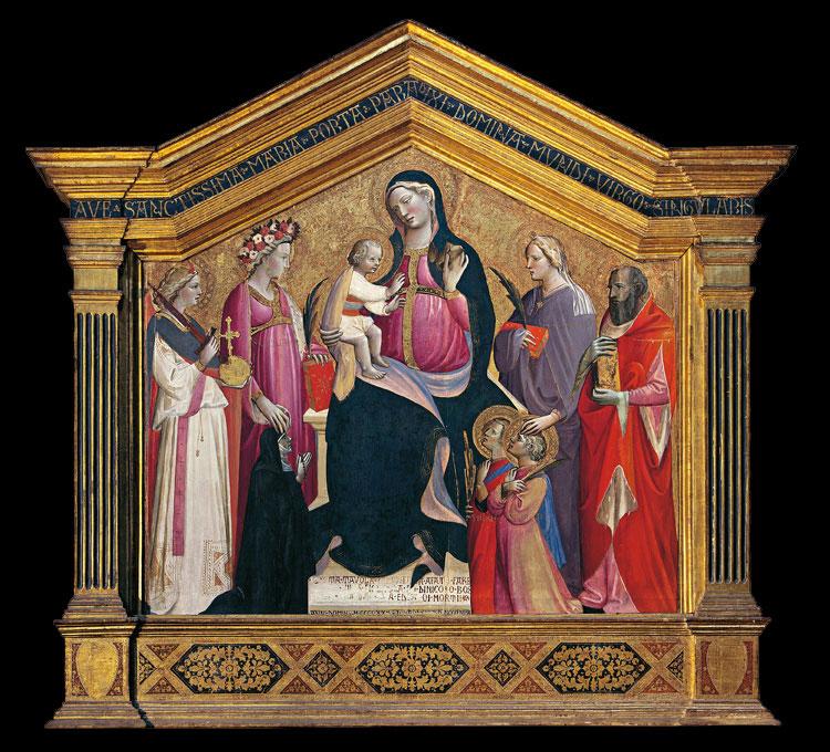 1434 Giovanni dal Ponte, san Michele Cecilia, Domitilla, Girolamo, Nereo, Achilleo e donatrice Chiesa di S. Salvatore al Monte Fl