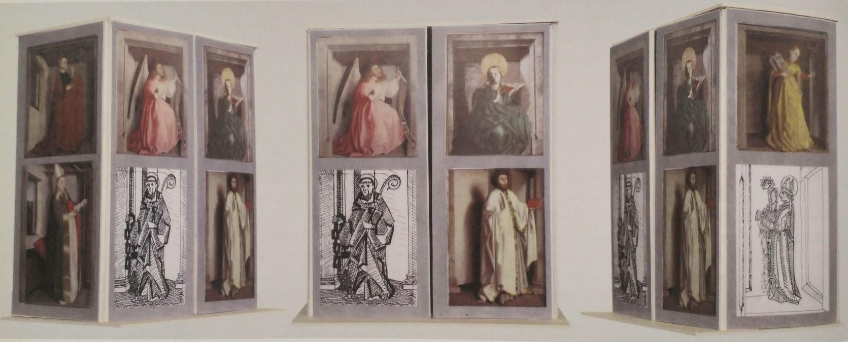 1435 konrad Witz retable du Miroir du Salut Musee des BA Dijon Reconstruction Catalogue expo Bale