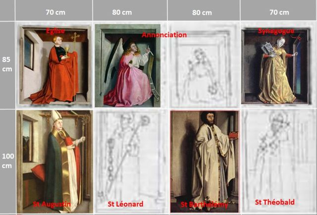 1435 konrad Witz retable du Miroir du Salut Musee des BA Dijon Reconstruction Michael Schauder revers