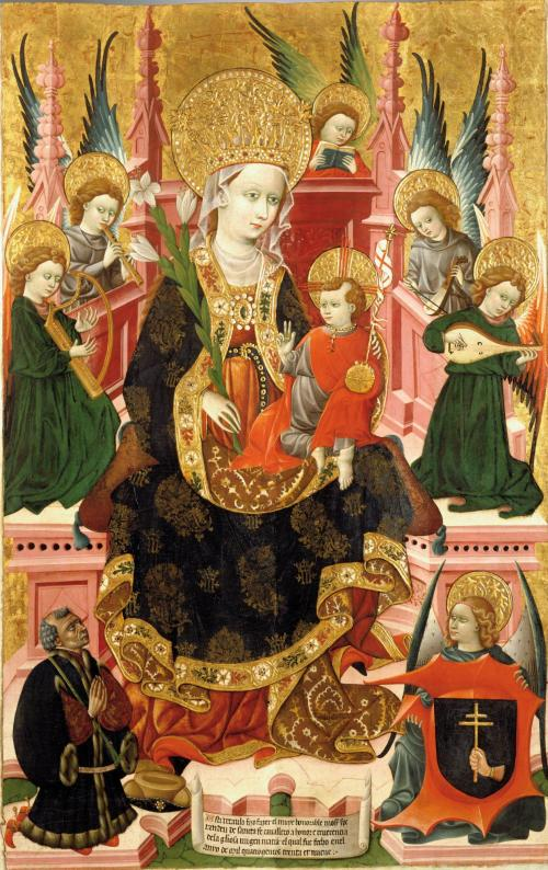 1438-39 Blasco_de_Granen_-_Virgin_of_Mosen_Esperandeu_de_Santa_Fe_Museo Lazaro Galdiano