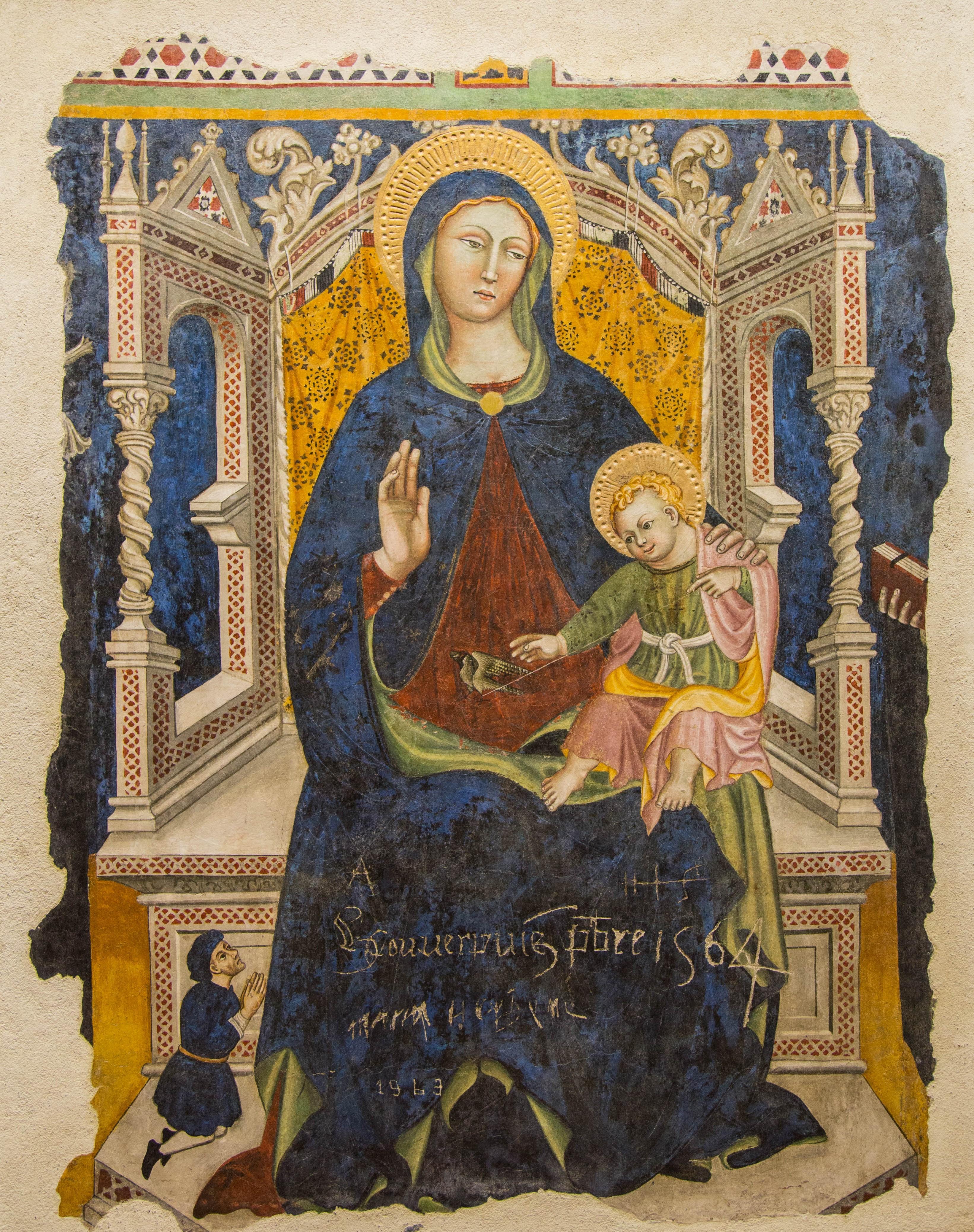 1440-60 Francesco d'Antonio da Viterbo, Madonna del cardellino Museo Civico, Viterbo église Santa Maria in Gradi