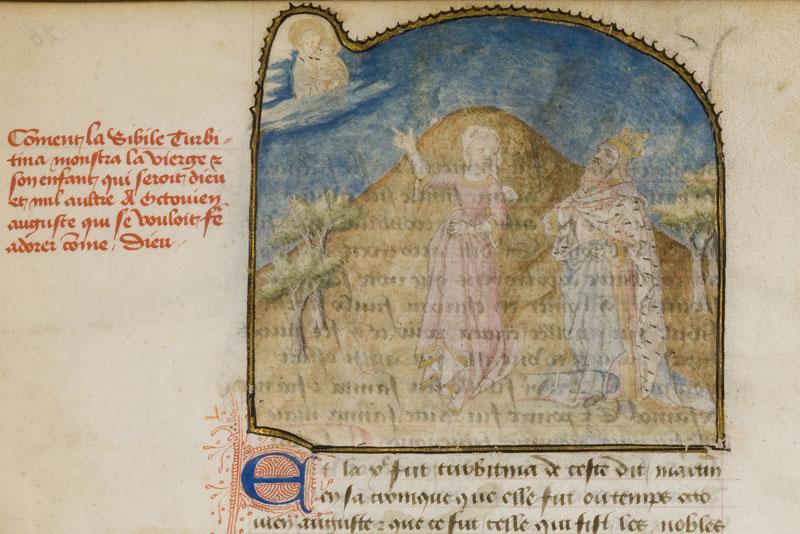 1440 Antoine de La Sale Paradis de la reine Sibylle Chantilly, Musee Conde, 0653 (0924) f026v